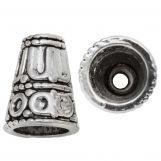 Calotte de Perles (15 x 12 mm) Argent Antique (5 pièces)