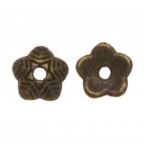Calotte de Perles (6 x 1.5 mm) Bronze (25 pièces)