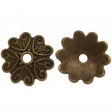 Calotte de Perles (11 x 2 mm) Bronze (25 pièces)