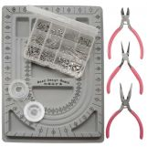 Kit de Fabrication de Bijoux (Acier Inoxydable) Argent Antique