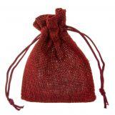 Sachets à bijoux en jute (9 x 7 cm) Dark Red (10 pièces)