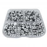 Perles Lettres Voyelles - 8 x 4 mm (48 perles par lettre)