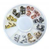 Rondelles Avec Strass (5 mm) Mix Color (60 pièces)