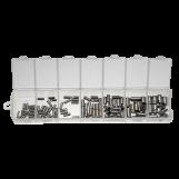 Embouts en Acier Inoxydable (1 à 4 mm) Argent Antique (110 pièces)