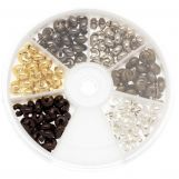 Caches Perles à Écraser (5 mm) Mix Couleur (200 pièces)