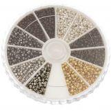 Perles à Écraser (Diamètre intérieur 1 mm) Mix Couleur (3000 pièces)