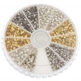 Perles à Écraser (Diamètre intérieur 1 - 1.5 mm) Mix Couleur