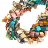 Perles Coquillage - Mélange (8 x 8 mm) Mix Couleur (235 pièces)