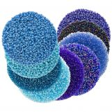 Assortiment - Rocailles (2 mm / 9 x 50 grammes) 'Mix Color Blue'