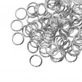 Anneaux de Saut (8 mm) Argent Antique (100 pièces) Épaisseur 1 mm