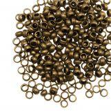 Perles à Écraser (Diamètre intérieur 2 mm) Bronze  (100 pièces)