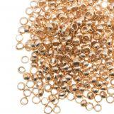 Perles à Écraser (Diamètre intérieur 2 mm) Or (100 pièces)