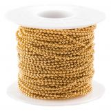 Chaine Bille Acier Inoxydable (1.5 mm) Or (20 mètre)
