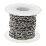 Chaine Bille Acier Inoxydable (2 mm) Argent Antique (20 mètre)