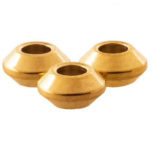 30 perles en métal cube couleur bronze dimensions 4 x 4 mm